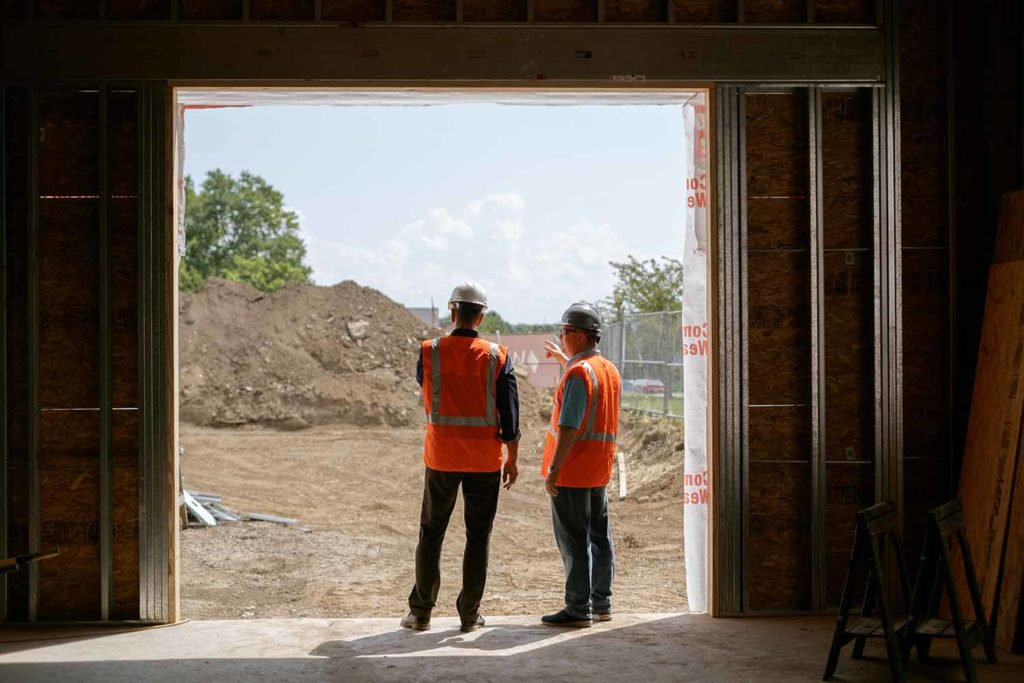 Steve Moore and Alan Strudwick, Co-Founders of The Fort Collective discussing construction plans for The Fort Collective.